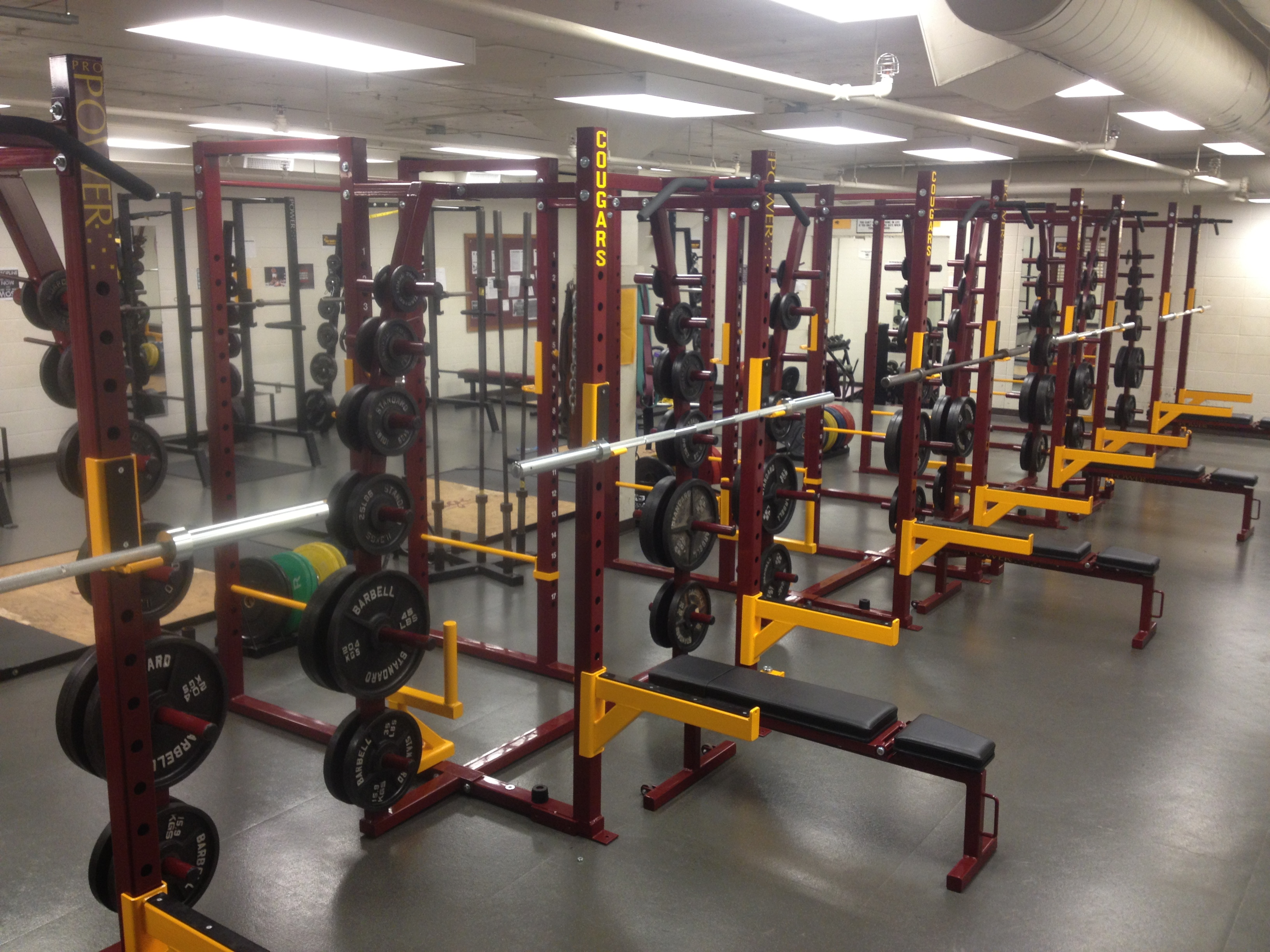 High School Weight Room in Indiana